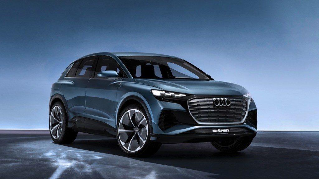 Nouveau modèle de voiture électrique chez Audi. Avec une longueur de 4,59 m, il vient se placer entre le Q3 et le Q5 de la gamme actuelle : 425 Km d'autonomie, 83kwh de capacité de batterie, à partir de 60 000€.