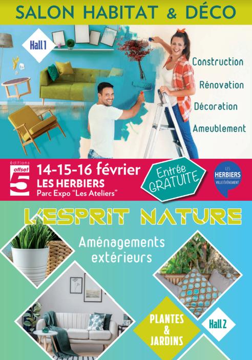Salon de l'habitat des Herbiers du 14 au 16 février 2020.