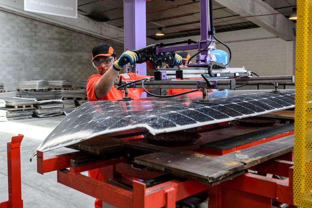 La première usine de recyclage de panneaux photovoltaïques en Europe.