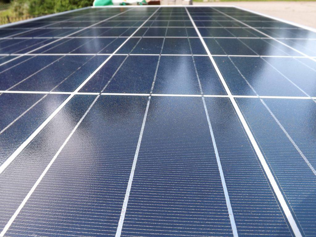 Panneau photovoltaïque composé de cellules monocristalline